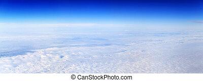 パノラマの光景, の, 曇っている