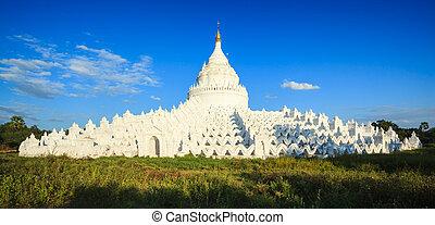 パノラマ, の, hsinbyume のpagoda, mingun, マンダレイ, ミャンマー