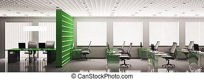 パノラマ, オフィス, 3d