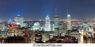 パノラマ, モントリオール, 夕闇