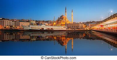パノラマ, 劇的, 日没, イスタンブール