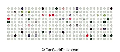 パノラマ, 抽象的, 強力, 背景 パターン, 点