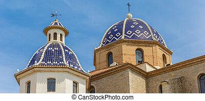 パノラマ, 教会, ドーム, altea, 青