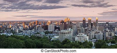 パノラマ, 日没, モントリオール