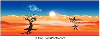 パノラマ, 砂漠, 砂