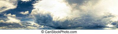 パノラマ, 空, 曇り