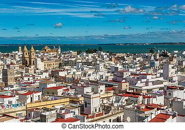 パノラマ, cadiz, スペイン