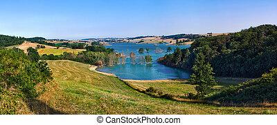 パノラマ, ganguise, 湖