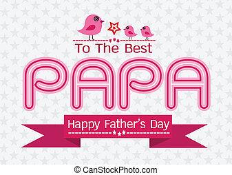 パパ, お父さん, カード, 愛, 日, 幸せ, ∥あるいは∥, 父