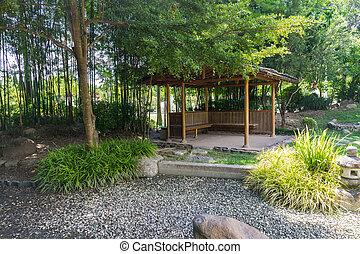 パビリオン, 日本の庭