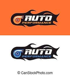 パフォーマンス, ロゴ, 自動車