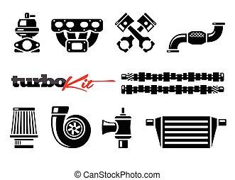 パフォーマンス, mods, 車, ターボ, キット