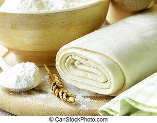 パフペストリー, 手製, 小麦粉