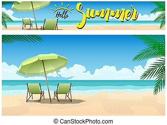 パラダイス, 夏, 浜