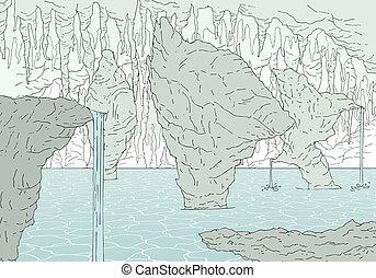 パラダイス, 大洞窟, 地域