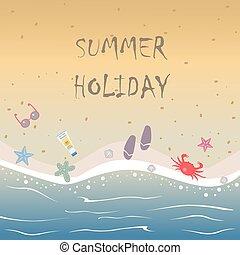 パラダイス, 水, 暑い, 砂の 海, 浜, 隔離された, 水晶
