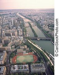 パリ, エッフェル, tower., 光景