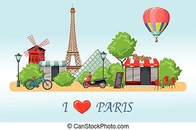 パリ, スカイライン, 構成