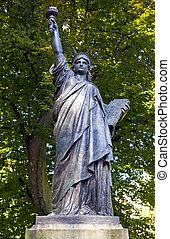 パリ, ルクセンブルク, 自由, 像, du, 彫刻, jardin