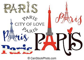 パリ, レタリング, セット