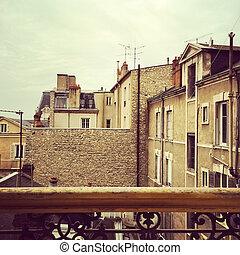 パリ, 上に, 近所, 光景