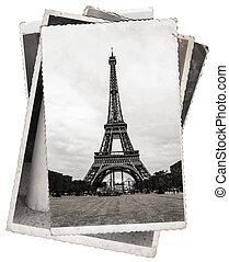 パリ, 写真, タワー, エッフェル, 型