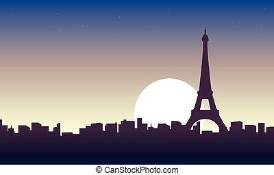 パリ, 景色, 日の出, 風景
