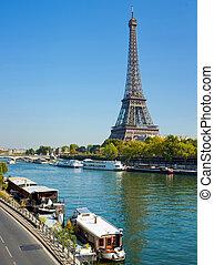 パリ, 暮らし, セーヌ, てんま船, 光景