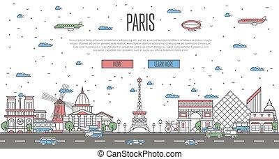 パリ, 有名, 国民, スカイライン, ランドマーク
