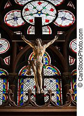 パリ, 貴婦人, notre, cathedral.