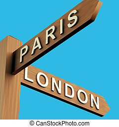 パリ, 道標, 方向, ロンドン, ∥あるいは∥