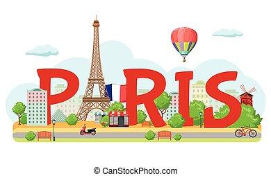 パリ, 都市, 構成, 印