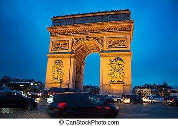 パリ, de, アーチ, 勝利