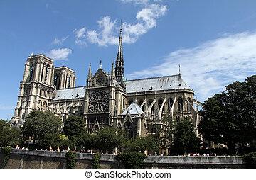 パリ, notre, -, 貴婦人