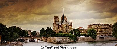 パリ, notre, de, 貴婦人