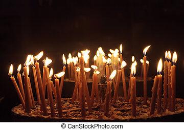 パレスチナ, 蝋燭, bethlehem, nativity, 教会