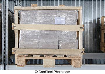 パレット, ∥で∥, 箱, 中に, ∥, 貯蔵の 棚