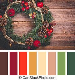 パレット, 花輪, クリスマス