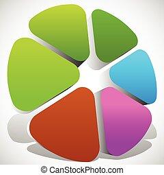 パレット, 車輪, カラフルである, 色, 抽象的, editable, ベクトル, アイコン, graphics.