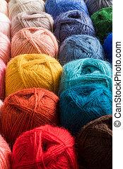 パレット, colourfull, ハンドメイド, 糸, knittng