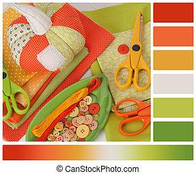 パレット, swatches, 合うこと, ハンドメイド, pumpkin., accessories., 趣味,...