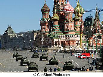 パレード, russia., 広場, 2013, モスクワ, ∥そうするかもしれない∥, 07, 赤, 軍, リハーサル