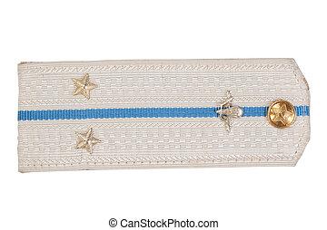 パレード, shoulder-strap, ソビエト, 空輸, 力, 上に, a, 白い背景