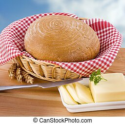 パンのローフ, そして, バター
