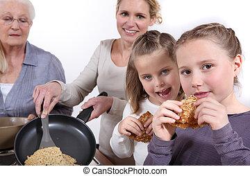 パンケーキ, 料理, 家族