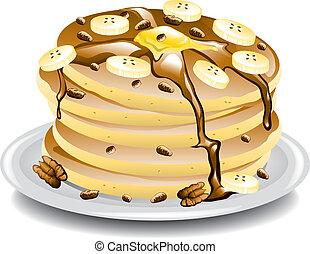 パンケーキ, bananas.