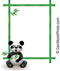 パンダ, 木, 竹