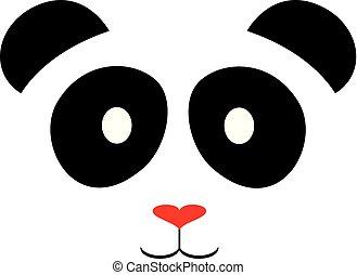 パンダ, 赤い鼻