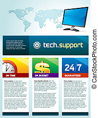 パンフレット, コンピュータ, techsupport