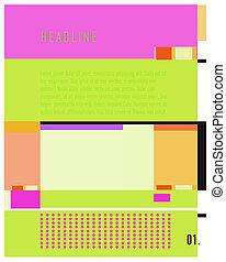パンフレット, スタイル, グラフィック, 頭, elements., ビジネス, 企業である, 年報, の上, イラスト, カタログ, レポート, 雑誌, ベクトル, デザイン, 最新流行である, プレゼンテーション, template., cover.